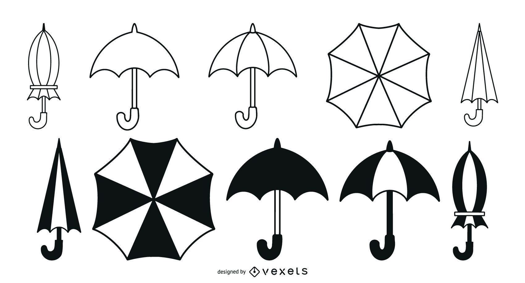 Umbrellas stroke pack