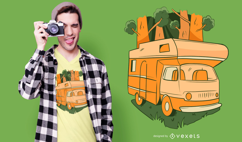 Natur Caravan T-Shirt Design