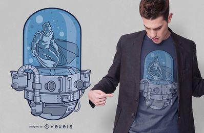 Design de camiseta de cápsula de super-herói