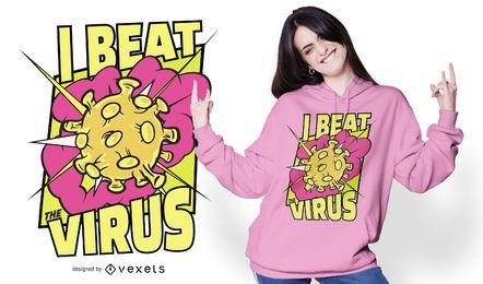 I Beat Virus T-shirt Design
