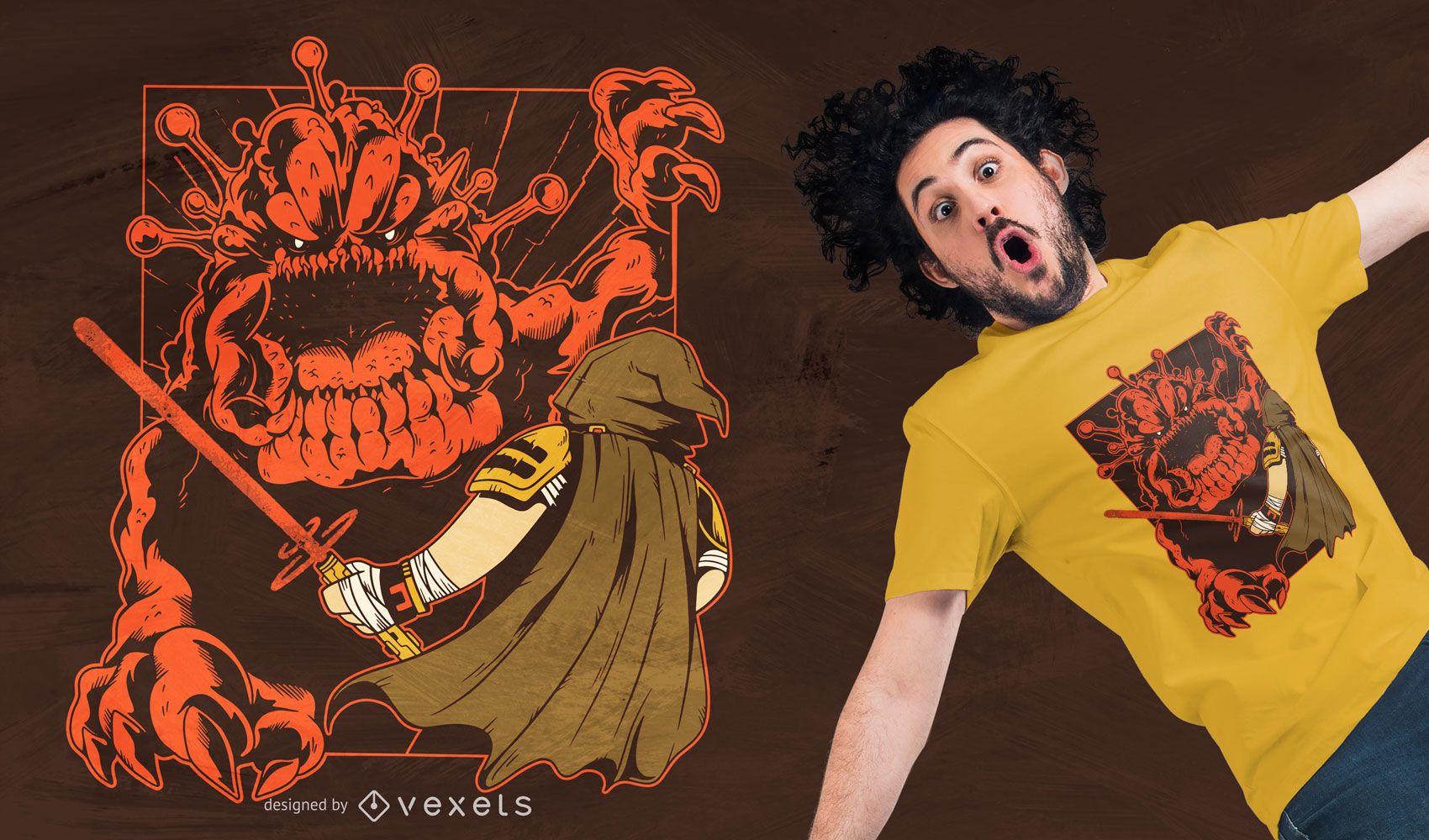 Diseño de camiseta de virus galáctico