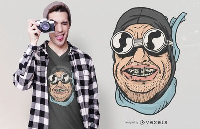 Funny Biker Teeth T-shirt Design