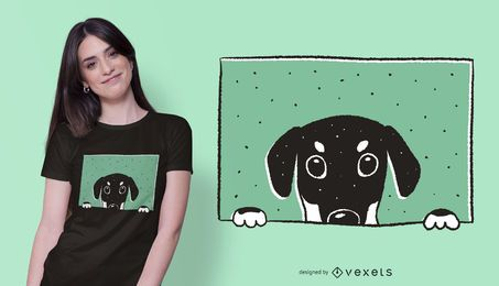 Peeking doberman t-shirt design