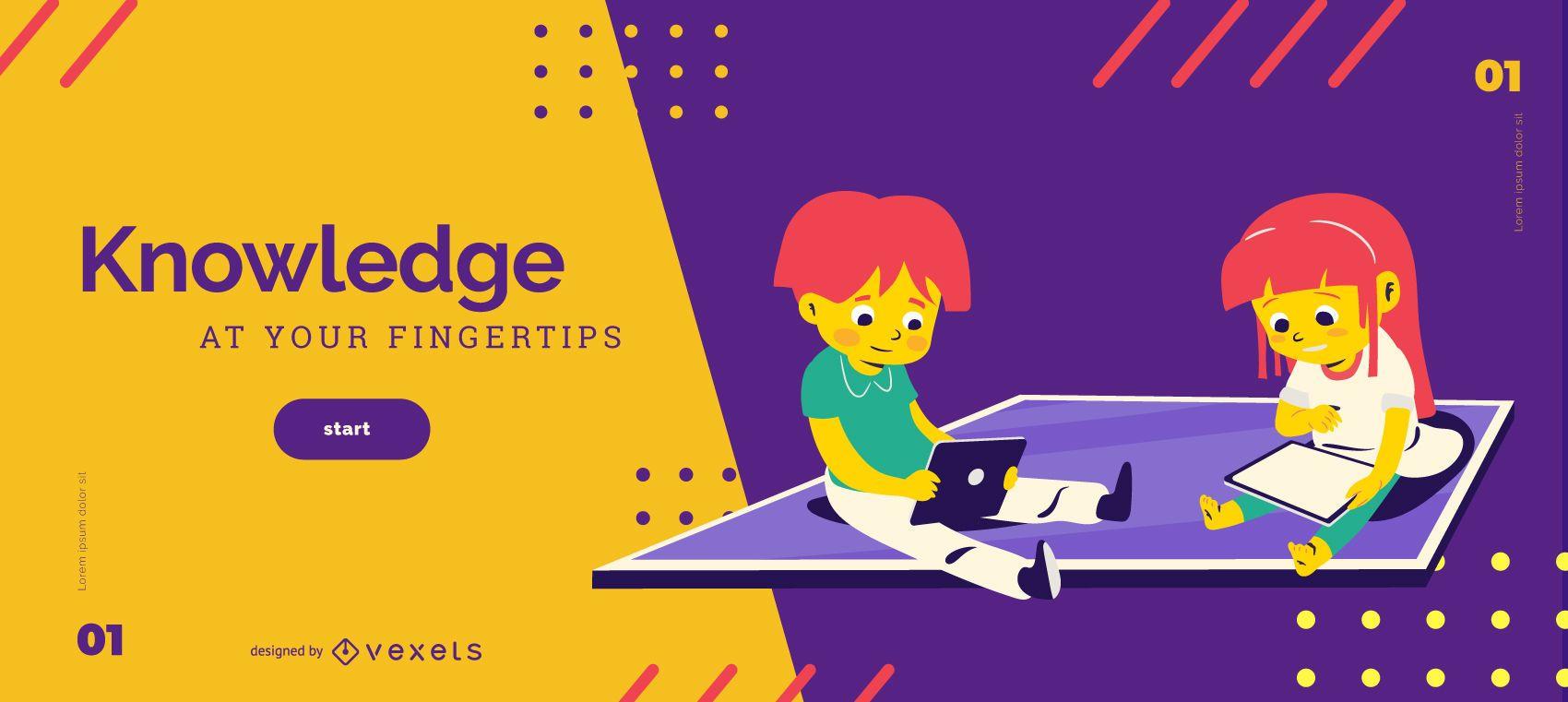 Modelo de controle deslizante para crianças de conhecimento