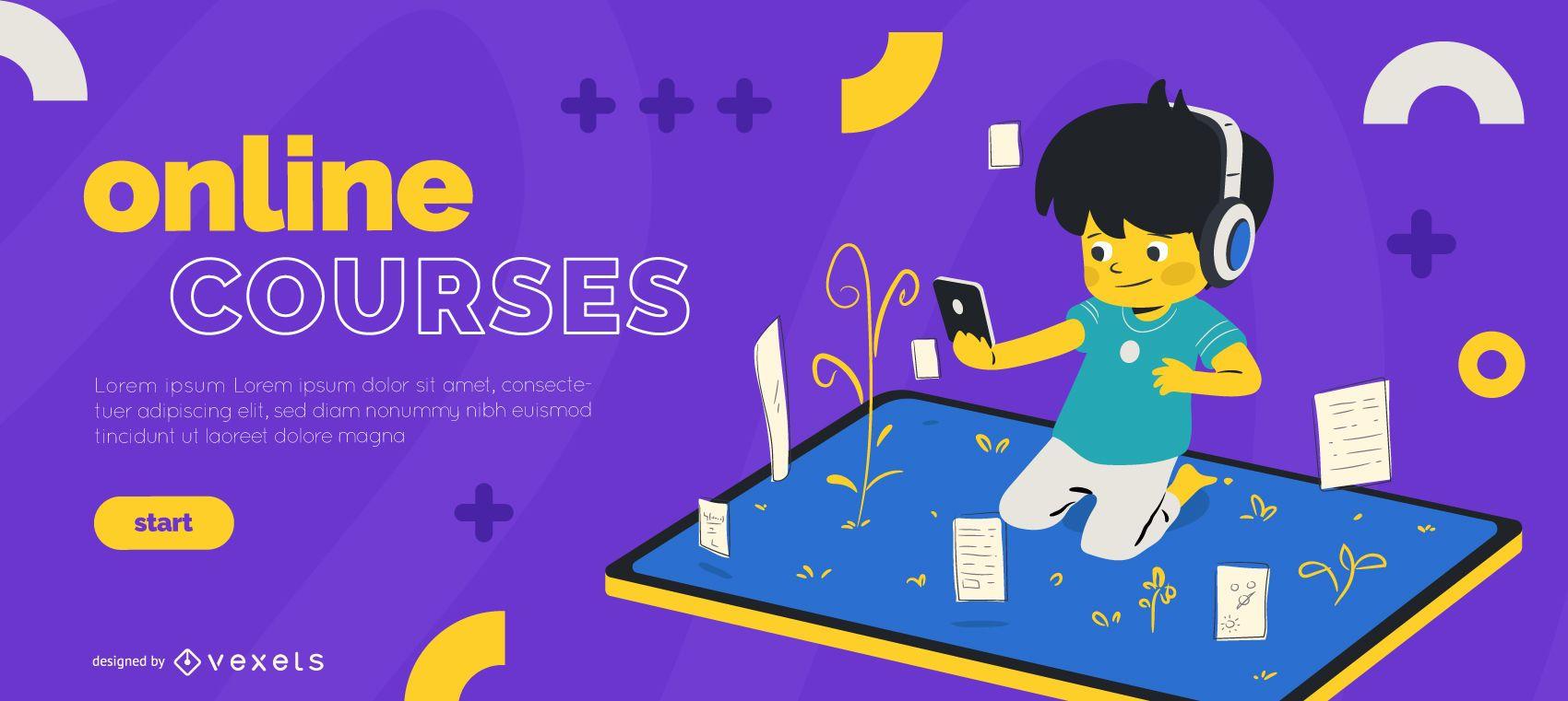 Online courses kids slider template