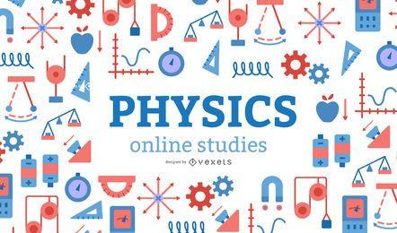 Diseño de portada de estudios en línea de física