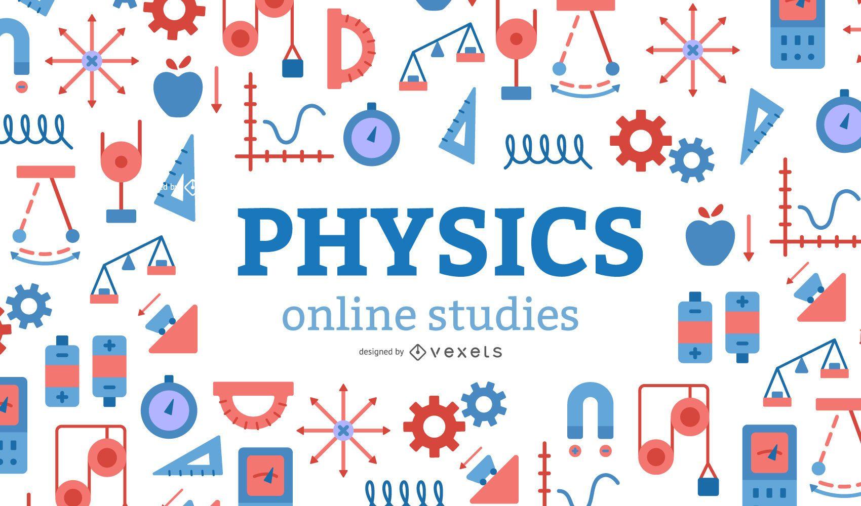 Physics Online Studies Cover Design