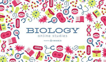 Biologia Online Estudos Fundo Design