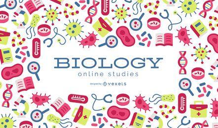 Diseño de fondo de estudios en línea de biología
