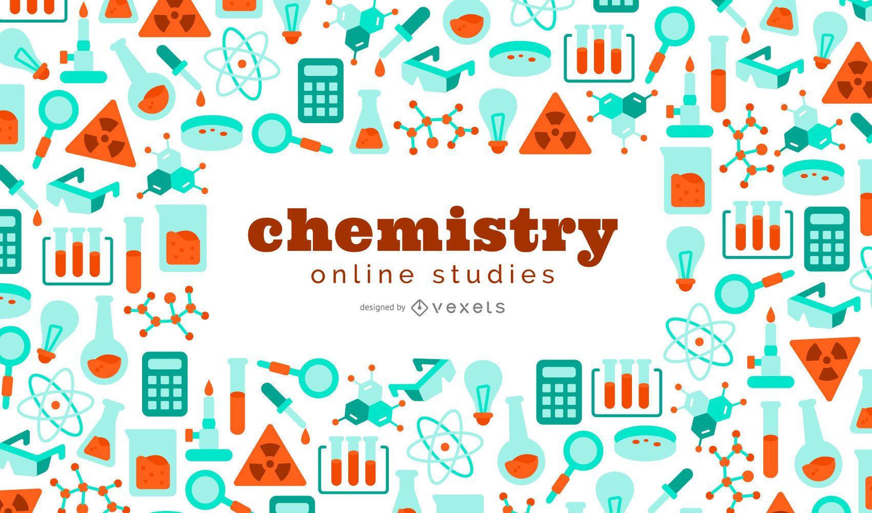 Fondo de estudios de química en línea
