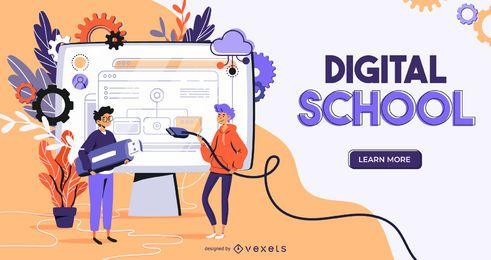 Diseño del control deslizante web de la escuela digital
