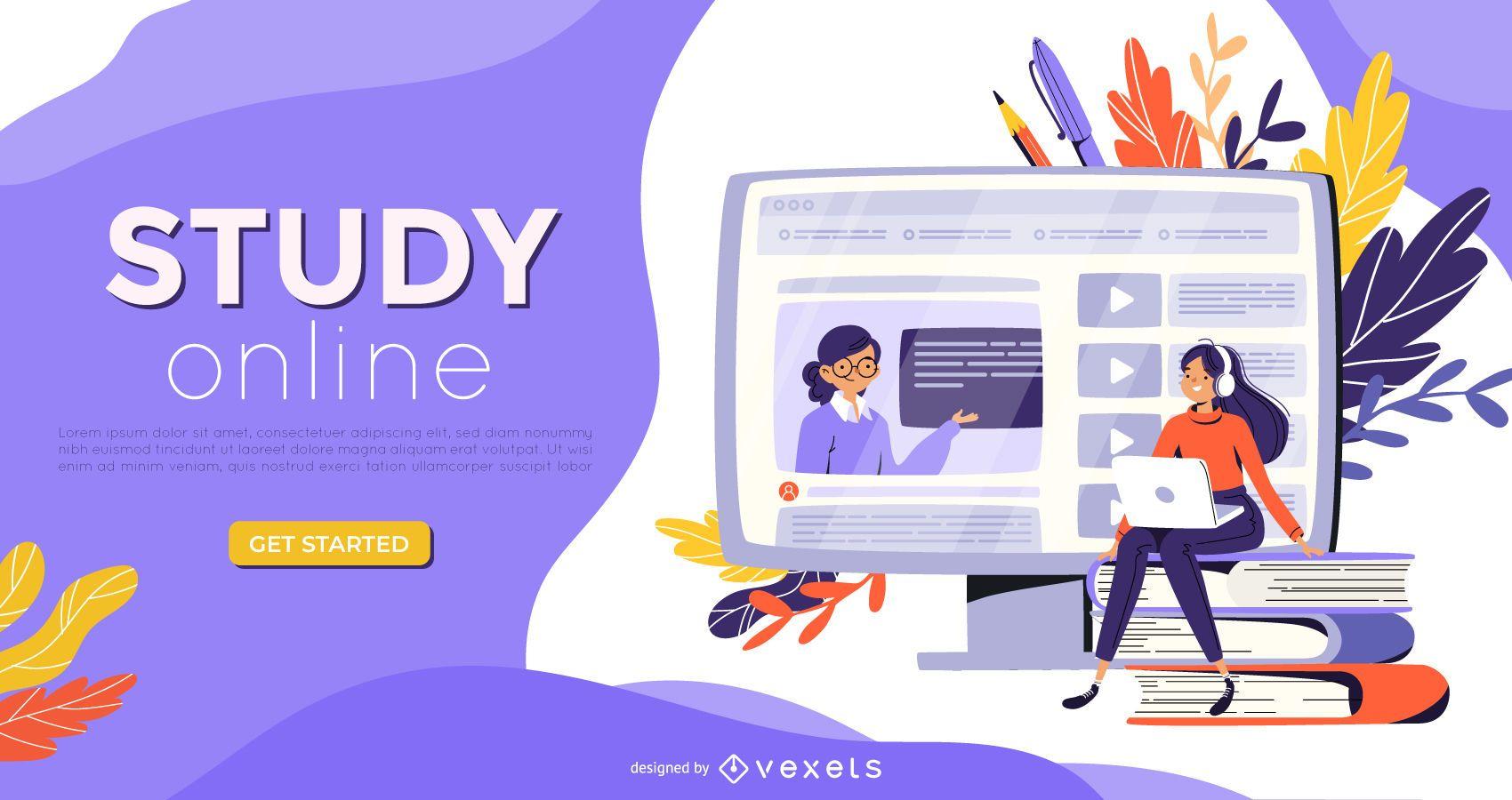 Studieren Sie Online Web Slider Design
