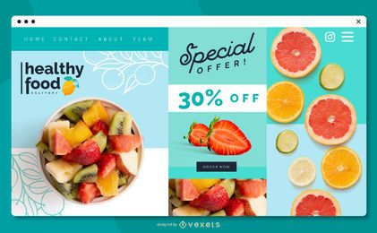 Healthy Food Web Slider Design