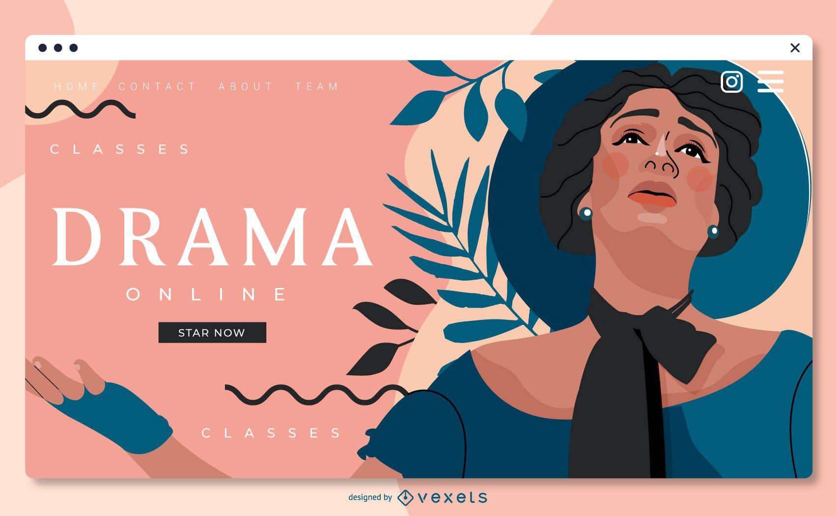 Design da Web Slider da Escola de Teatro