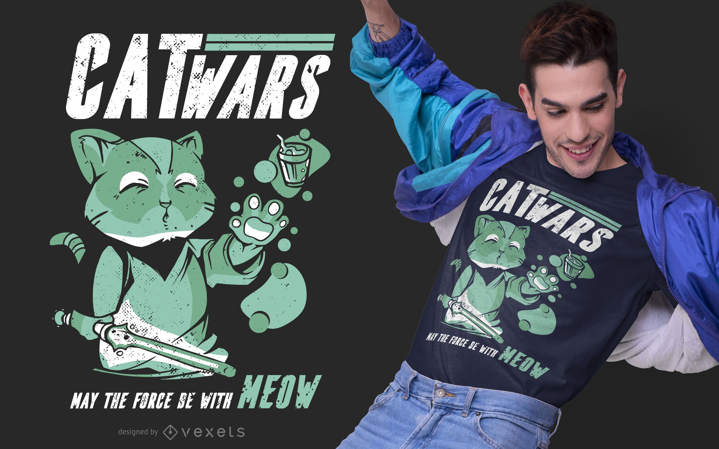Design de camisetas paródia Catwars