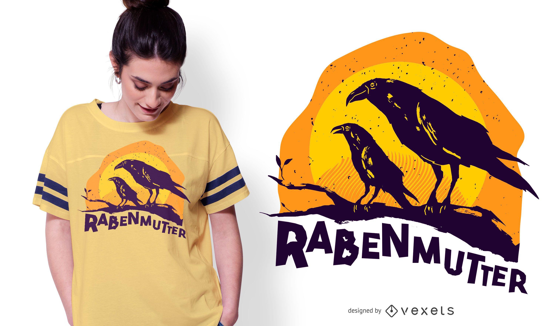 Raven Mother German T-shirt Design