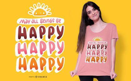 Feliz feliz t-shirt design