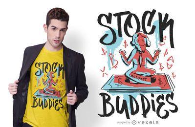 Diseño de camiseta Stock Buddies