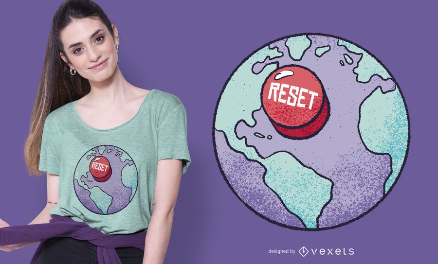Reset earth t-shirt design