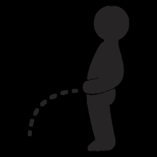 Peeing man icon