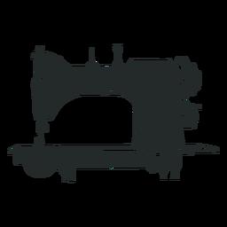 Máquina de coser antigua negra