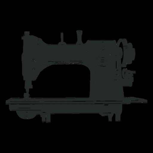 Antique sewing machine black