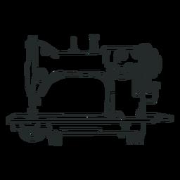 Máquina de coser antigua dibujada a mano