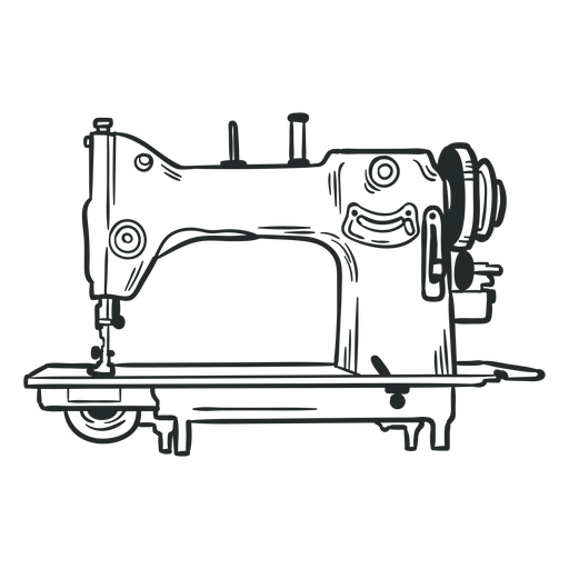 Antique sewing machine hand drawn Transparent PNG