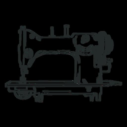 Antique sewing machine hand drawn