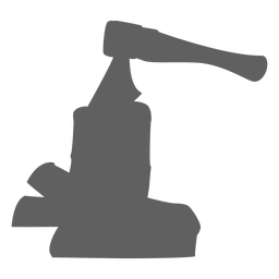 Axe in firewood silhouette