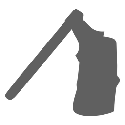 Axe in wood silhouette