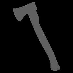 Silhueta de machado