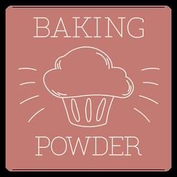 Baking powder label line