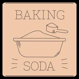 Baking soda label line