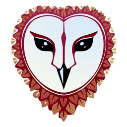 Barn owl face illustration