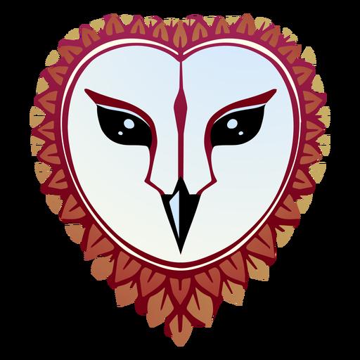 Barn owl face illustration