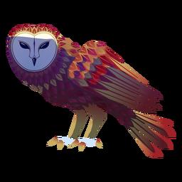 Barn owl side illustration
