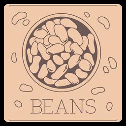 Beans label line
