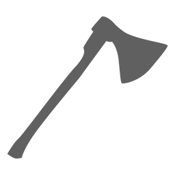 Silhueta de machado grande