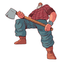 Big lumberjack character