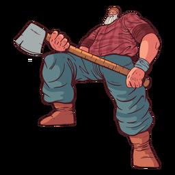 Personagem de lenhador grande