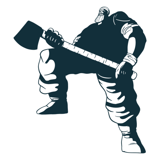 Big lumberjack character blue Transparent PNG