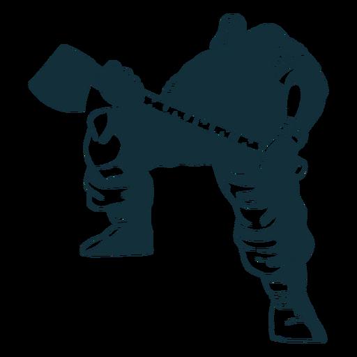 Big lumberjack character blue