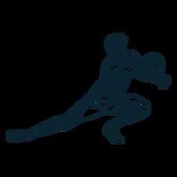 Personagem de jogador de vôlei preto e branco