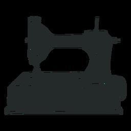 Máquina de coser negra antigua