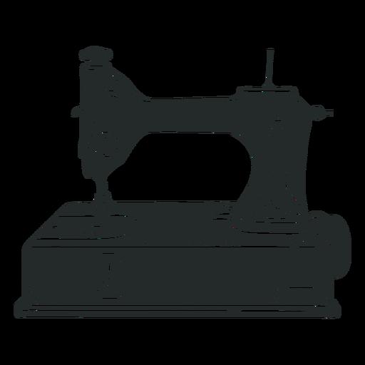 Máquina de coser negra antigua - Descargar PNG/SVG