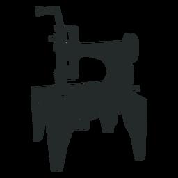 Máquina de coser vintage antigua negra