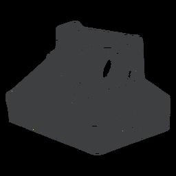 Cámara polaroid negra