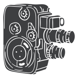 Black vintage film camera