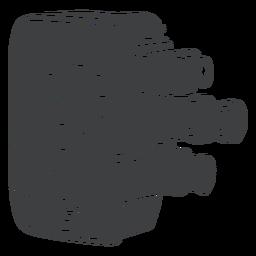 Câmera de filme vintage preto
